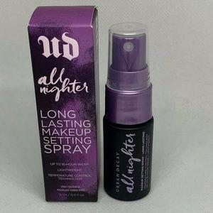 NIB! URBAN DECAY All Nighter Setting Spray $12/$10